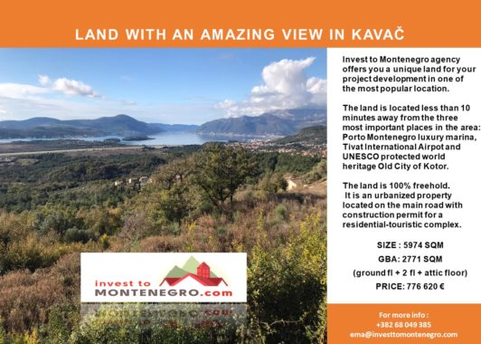 Special Land Offers in Montenegro – API Investment Freehold – 25.06.20